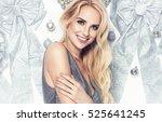 beautiful young elegant woman... | Shutterstock . vector #525641245