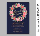 wedding invitation printable... | Shutterstock .eps vector #525643195