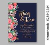 wedding invitation printable... | Shutterstock .eps vector #525643384