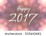 happy 2017 text design on...   Shutterstock .eps vector #525643681