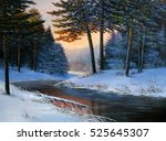 Winter Landscape With The Rive...