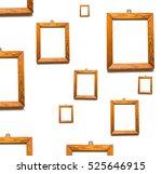 Old Wooden Frames Of Pine Wood...
