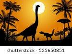 dinosaurs   brachiosaurus and... | Shutterstock .eps vector #525650851