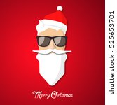 hipster santa claus with cool... | Shutterstock .eps vector #525653701