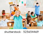 uncontrollable pupils in... | Shutterstock . vector #525654469