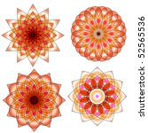 orange and red ornament... | Shutterstock . vector #52565536