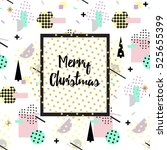 christmas and new year flat... | Shutterstock .eps vector #525655399