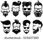 hipster hair and beards ... | Shutterstock .eps vector #525657385