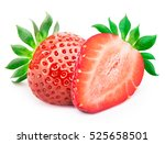 perfectly retouched strawberry... | Shutterstock . vector #525658501