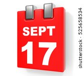september 17. calendar on white ... | Shutterstock . vector #525658534