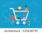 e commerce cart concept... | Shutterstock . vector #525658759