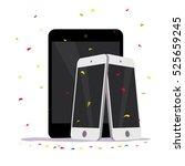 vector flat smartphone and...   Shutterstock .eps vector #525659245