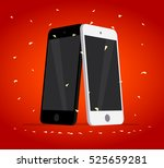 vector flat smartphone isolated ... | Shutterstock .eps vector #525659281