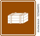 wooden box sign | Shutterstock .eps vector #525660091