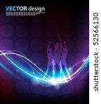 vector glowing background | Shutterstock .eps vector #52566130