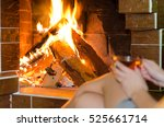 beautiful female legs on a... | Shutterstock . vector #525661714