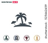 pictograph of island | Shutterstock .eps vector #525662659
