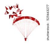 paraglider flying vector...   Shutterstock .eps vector #525663277