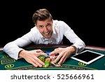happy player online poker | Shutterstock . vector #525666961