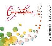 congratulations calligraphy in... | Shutterstock .eps vector #525667327