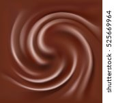 abstract melted chocolate swirl ... | Shutterstock .eps vector #525669964