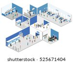 isometric flat 3d concept... | Shutterstock .eps vector #525671404