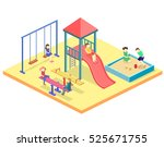 isometric flat 3d concept web... | Shutterstock .eps vector #525671755