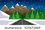 Set Of Winter Landscapes....