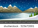 set of winter landscapes.... | Shutterstock .eps vector #525672001