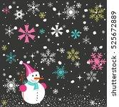 christmas card | Shutterstock .eps vector #525672889