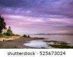 sunset over the beach in st... | Shutterstock . vector #525673024