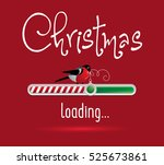loading christmas red and green ... | Shutterstock .eps vector #525673861