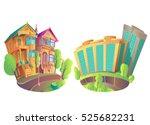 vector illustration houses  | Shutterstock .eps vector #525682231