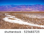 Small photo of Salt Badwater Basin Panamint Mountains from Dante's View Death Valley National Park California Lowest spot in the Western Hemisphere 282 Feet below Sea Level from Highest Point in Death Valley