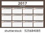 2017 calendar planner design.... | Shutterstock .eps vector #525684085