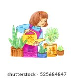 illustration hand painted... | Shutterstock . vector #525684847