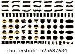 label ribbon banner black... | Shutterstock .eps vector #525687634