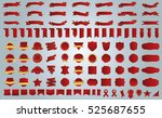 label ribbon banner red vector... | Shutterstock .eps vector #525687655