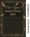 new years resolutions 2017... | Shutterstock .eps vector #525688051
