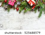 christmas background with... | Shutterstock . vector #525688579