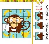 activity task for preschool... | Shutterstock .eps vector #525690697