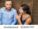 portrait of serious man and... | Shutterstock . vector #525691747