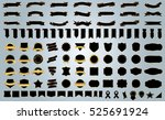 banner ribbon label black... | Shutterstock .eps vector #525691924