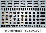 banner ribbon label black... | Shutterstock .eps vector #525691924
