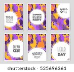 abstract vector layout... | Shutterstock .eps vector #525696361
