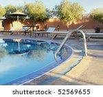 beautiful private swimmingpool - stock photo