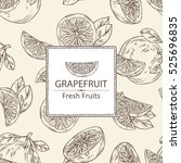 background with grapefruit and... | Shutterstock .eps vector #525696835