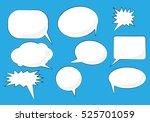 speech bubbles set. white...
