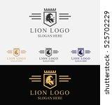 lion crest logo luxury brand... | Shutterstock .eps vector #525702229