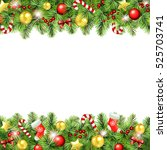 christmas background with... | Shutterstock . vector #525703741